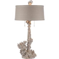 Aidan Gray Home Distressed White Table Lamp Set