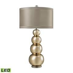 Dimond Lighting Gold Mercury, Polished Chrome LED Table Lamp with Drum Shade