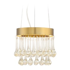 Designers Fountain Lucienne Luxor Gold LED Mini-Pendant Light