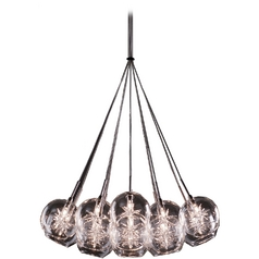 Modern Low Voltage Multi-Light Pendant Light with Clear Glass and 19-Lights