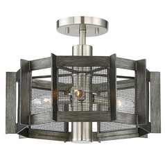 Designers Fountain Baxter Weathered Iron Semi-Flushmount Light