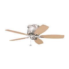 Kichler Lighting Kichler 42-Inch Hugger Ceiling Fan with Five Blades 300124BSS