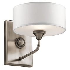 Mid-Century Modern Sconce Pewter Lucille by Kichler Lighting