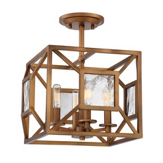 Designers Fountain Athina Gilded Bronze Semi-Flushmount Light
