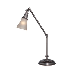 Lite Source Lighting Mercede Antique Copper Swing Arm Lamp