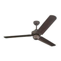 Modern Ceiling Fan Without Light in Roman Bronze Finish