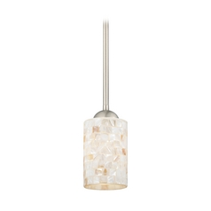 Design Classics Lighting Mini-Pendant Light with Mosaic Glass Glass 581-09 GL1026C