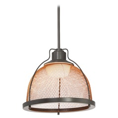 Nuvo Lighting Tex LED Dark Bronze LED Pendant Light with Bowl / Dome Shade
