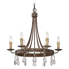 Savoy House Bronze Patina Crystal Chandelier