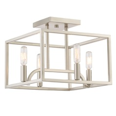 Designers Fountain Uptown Satin Platinum Semi-Flushmount Light