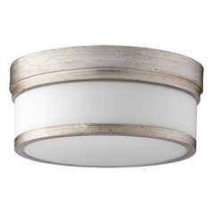 Quorum Lighting Celeste Aged Silver Leaf Flushmount Light