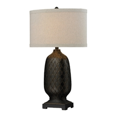 Dimond Lighting HGTV Table Lamp in Bronze Finish with Linen Drum Shade HGTV225