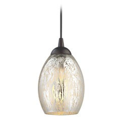 Design Classics Gala Fuse Neuvelle Bronze LED Mini-Pendant Light with Oblong Shade
