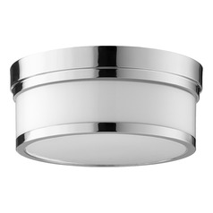 Quorum Lighting Celeste Polished Nickel Flushmount Light