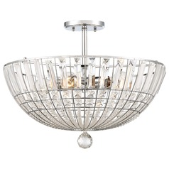 Minka Lavery Braiden Chrome Semi-Flushmount Light