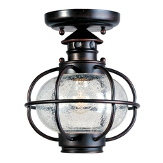 Maxim Lighting Close To Ceiling Light with Clear Glass in Oil Rubbed Bronze Finish 30508CDOI