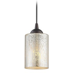 Design Classics Gala Fuse Neuvelle Bronze LED Mini-Pendant Light with Cylindrical Shade