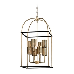 Hudson Valley Lighting Vestal Aged Brass Pendant Light