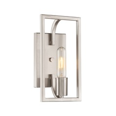 Designers Fountain Uptown Satin Platinum Sconce