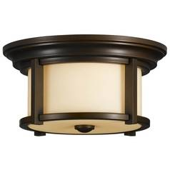 Close To Ceiling Light in Heritage Bronze Finish