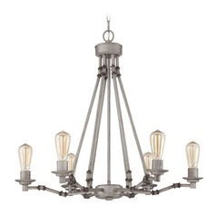 Jeremiah Lighting Hadley Aged Galvanized Chandelier