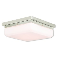 Livex Lighting Allure Polished Nickel Flushmount Light