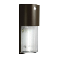 Progress Modern Wall Pack Security Light in Bronze Finish