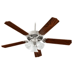 Quorum Lighting Capri Vi Satin Nickel Ceiling Fan with Light
