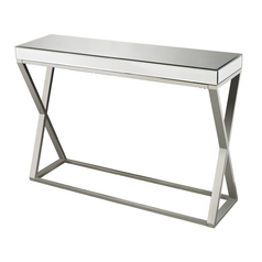 Sterling Lighting Clear / Chrome Sofa Table
