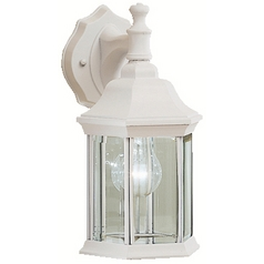 Kichler White Outdoor Wall Light with Clear Glass