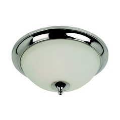 Sea Gull Lighting Modern Flushmount Light with White Glass in Polished Nickel Finish 79571BLE-841