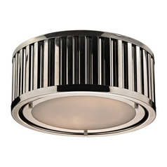 LED Flushmount Light in Polished Nickel Finish