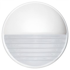 Frosted Ribbed Glass Outdoor Wall Light White Costaluz by Besa Lighting