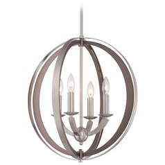 Metropolitan Ironsights Brushed Nickel Pendant Light