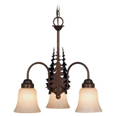 Yosemite Burnished Bronze Mini-Chandelier by Vaxcel Lighting