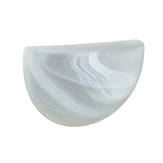 Sconce Wall Light Marbled Glass by Besa Lighting
