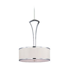 Maxim Lighting Metro Chrome Pendant Light with Drum Shade