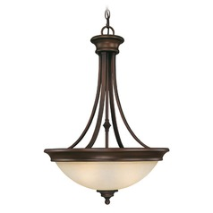 Capital Lighting Belmont Burnished Bronze Pendant Light with Bowl / Dome Shade