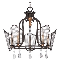 Metropolitan Cortona French Bronze W/ Gold Highligh Chandelier