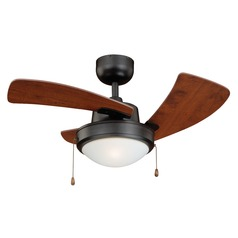 Wolcott New Bronze Ceiling Fan with Light by Vaxcel Lighting