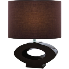 Lite Source Lighting Kenadia Coffee Table Lamp with Drum Shade