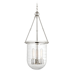 Hudson Valley Lighting Willet Polished Nickel Pendant Light