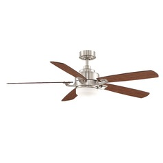 Fanimation Fans Benito Brushed Nickel Ceiling Fan with Light