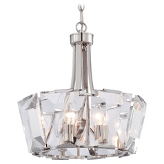 Metropolitan Castle Aurora Polished Nickel Pendant Light