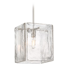 Designers Fountain Madison Square Satin Platinum Pendant Light with Square Shade