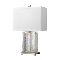 Table Lamp with White Rectangle Shade