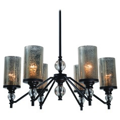 Mercury Glass Chandelier Oil Rubbed Bronze by Kenroy Home