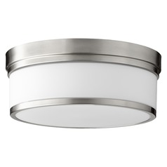 Quorum Lighting Celeste Satin Nickel Flushmount Light