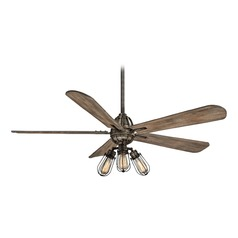 56-Inch Minka Aire Alva Heirloom Bronze LED Ceiling Fan with Light