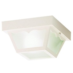 Kichler Close To Ceiling Light with White in White Finish